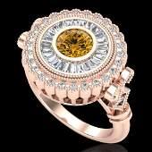 203 CTW Intense Fancy Yellow Diamond Engagement Art