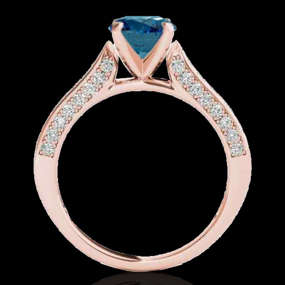 1.60 CTW SI Certified Fancy Blue Diamond Solitaire Ring - 2