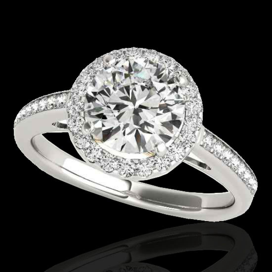 1.30 CTW H-SI/I Certified Diamond Solitaire Halo Ring