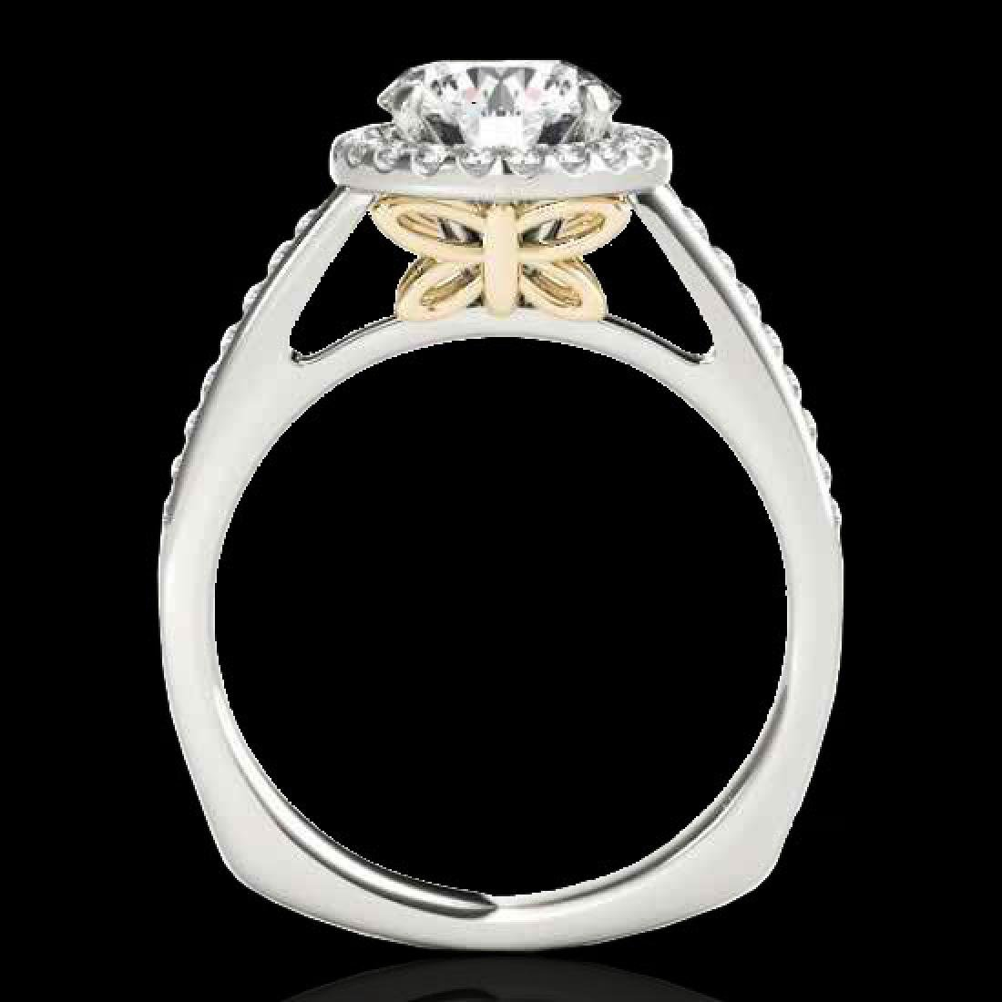 1.30 CTW H-SI/I Certified Diamond Solitaire Halo Ring - 2