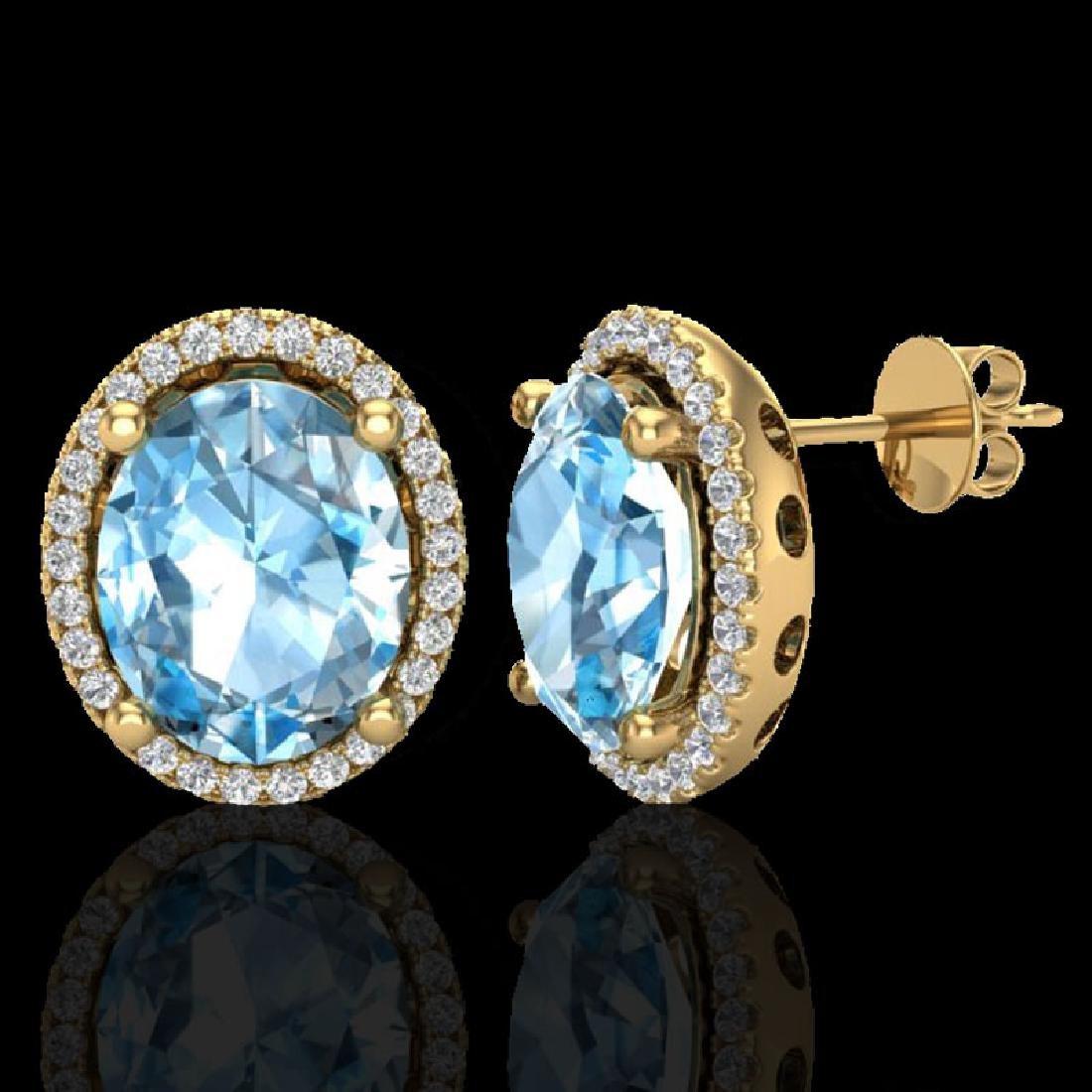 6 CTW Sky Blue Topaz & Micro VS/SI Diamond Certified - 2