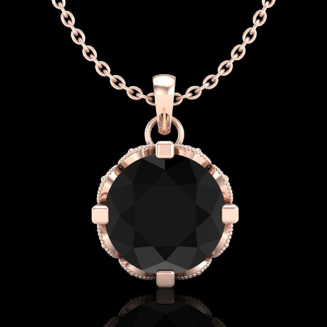 1.50 CTW Fancy Black Diamond Solitaire Art Deco Stud
