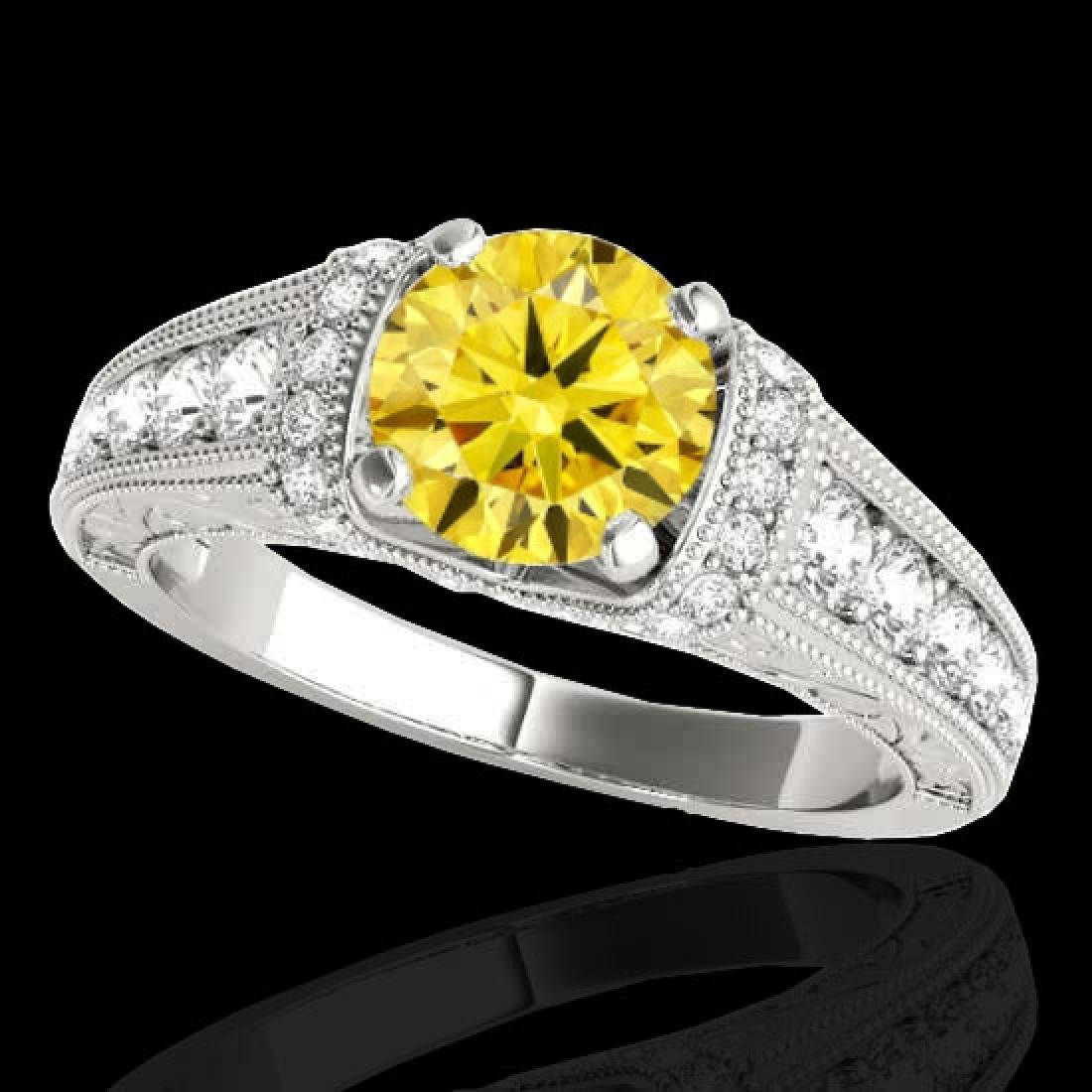 1.50 CTW Certified SI Intense Yellow Diamond Solitaire