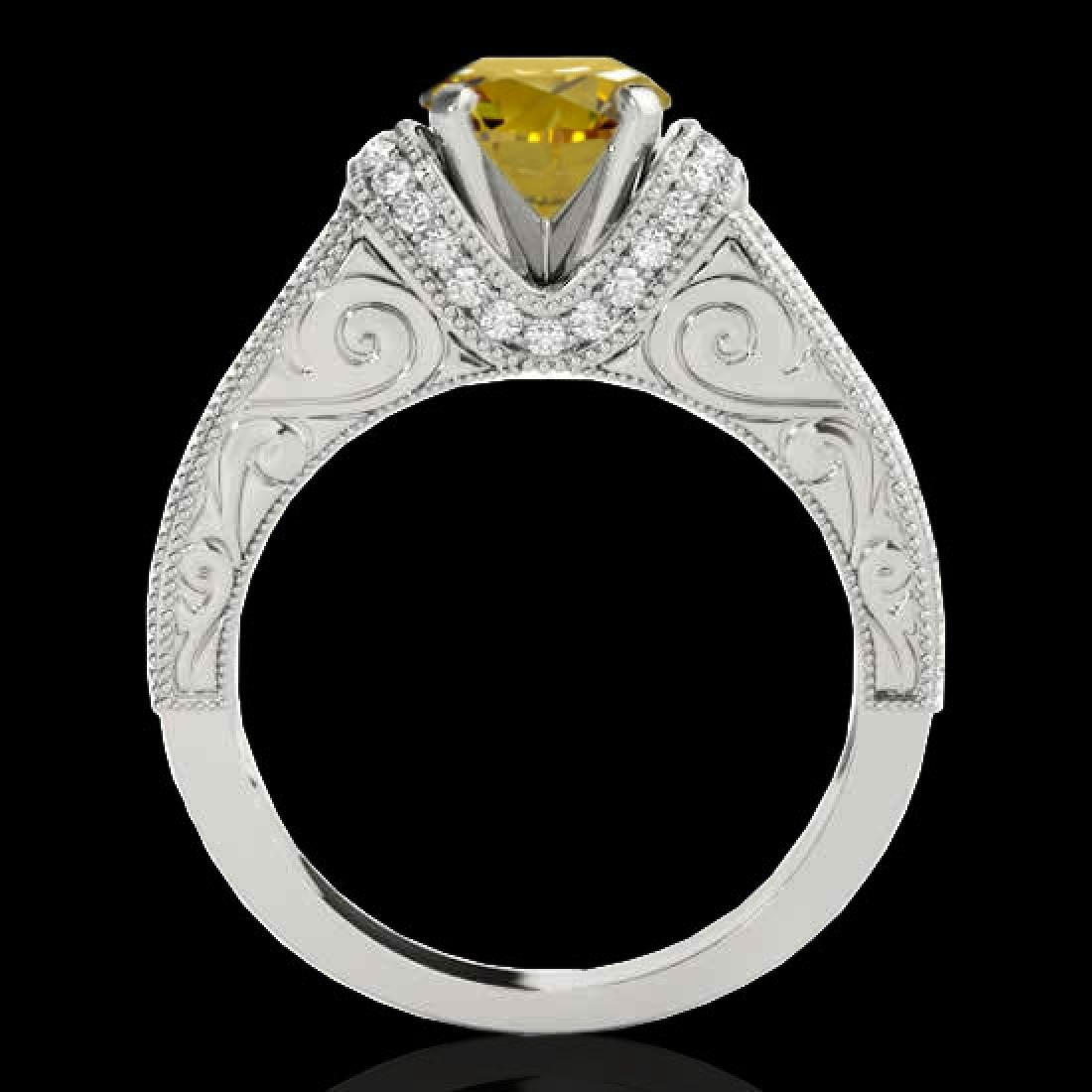 1.50 CTW Certified SI Intense Yellow Diamond Solitaire - 2