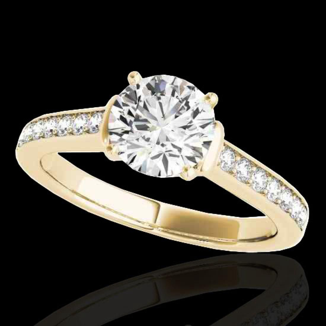 150 CTW HSII Certified Diamond Solitaire Ring 10K