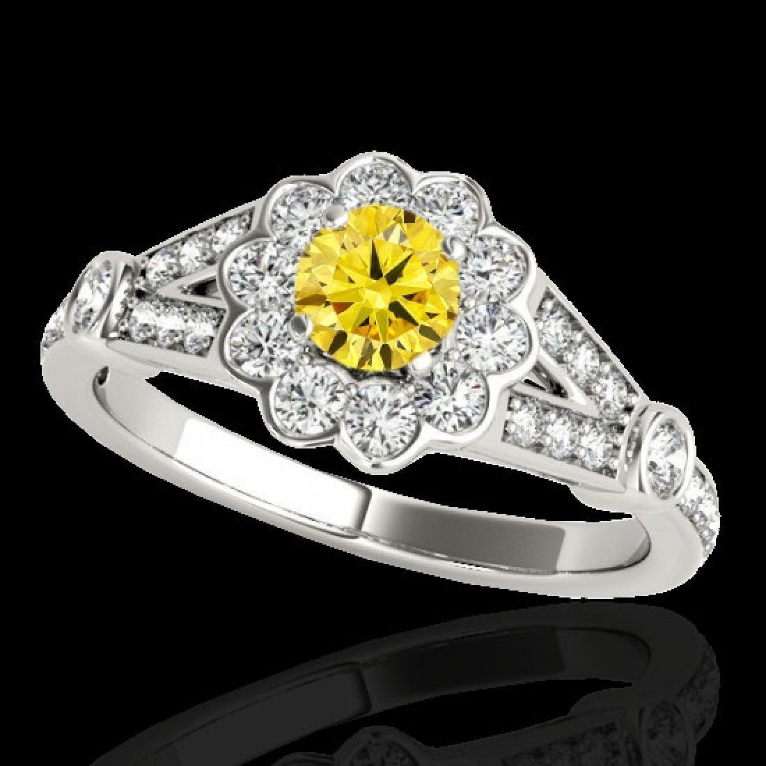 1.90 CTW Certified SI/I Fancy Intense Yellow Diamond