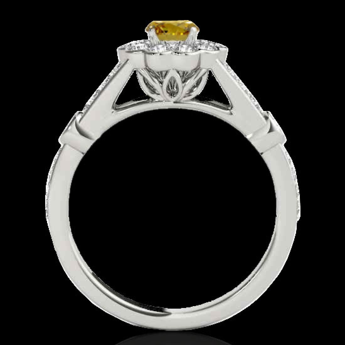 1.90 CTW Certified SI/I Fancy Intense Yellow Diamond - 2