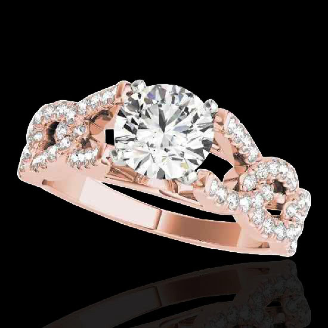 1.50 CTW H-SI/I Certified Diamond Solitaire Ring 10K