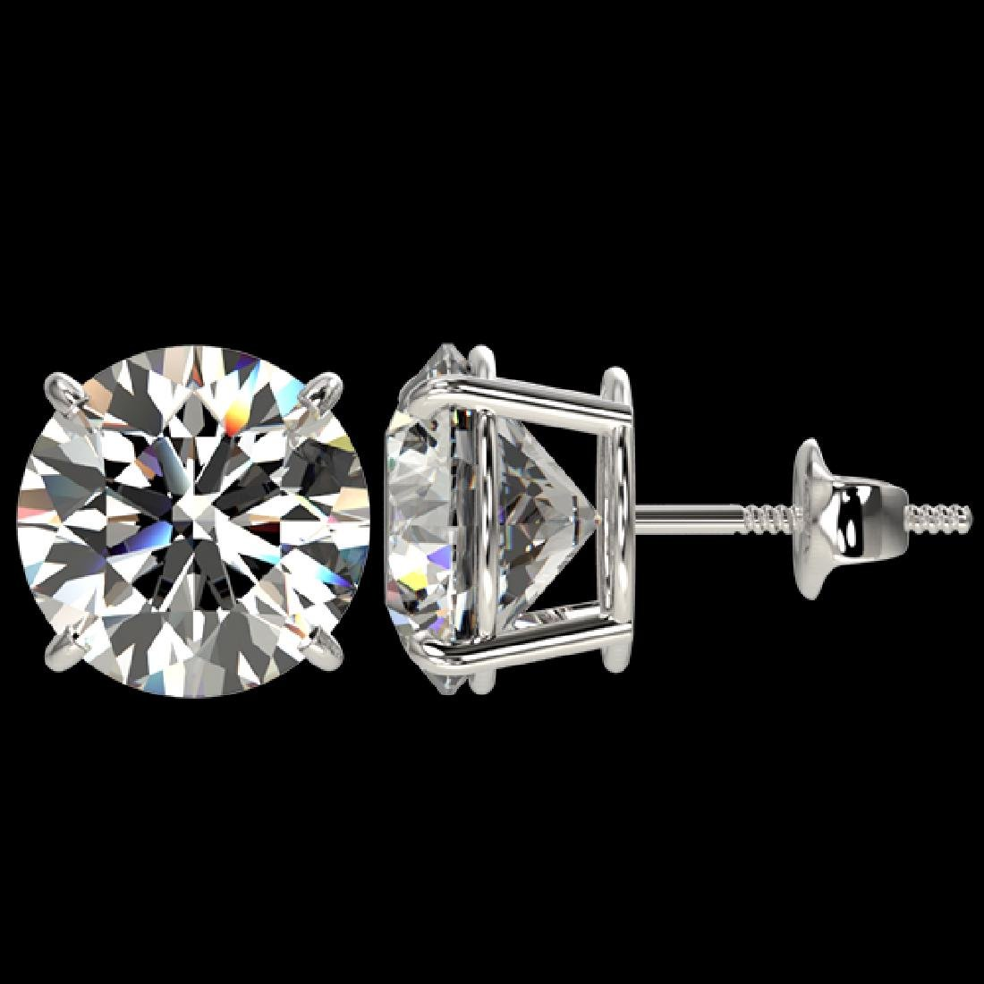 5 CTW Certified H-SI/I Quality Diamond Solitaire Stud - 2