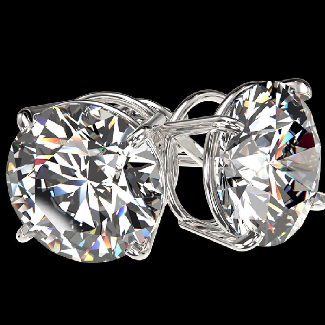 5 CTW Certified H-SI/I Quality Diamond Solitaire Stud - 3
