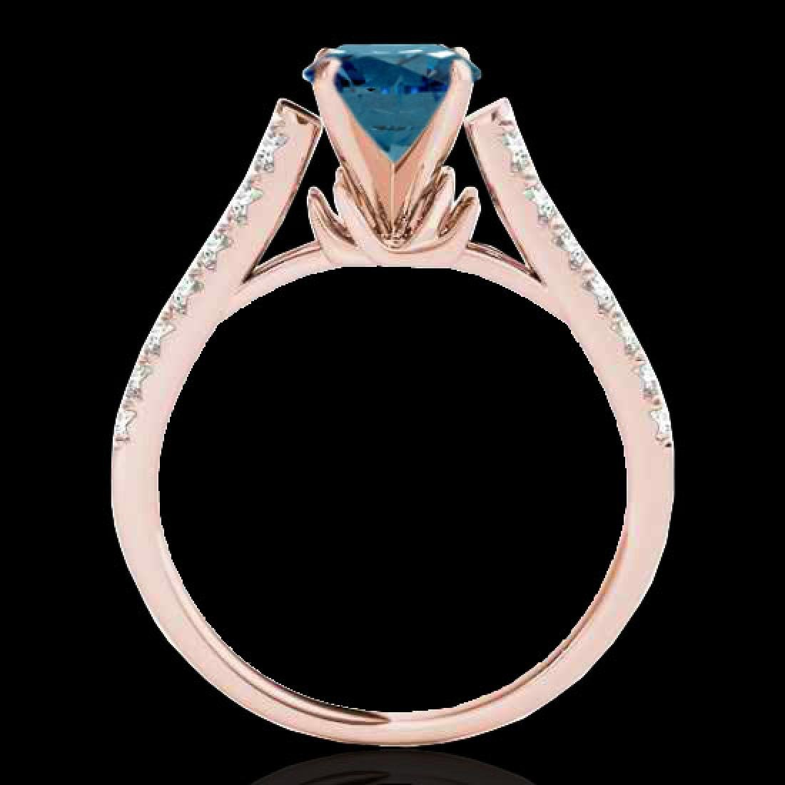 1.46 CTW SI Certified Fancy Blue Diamond Solitaire Ring - 2