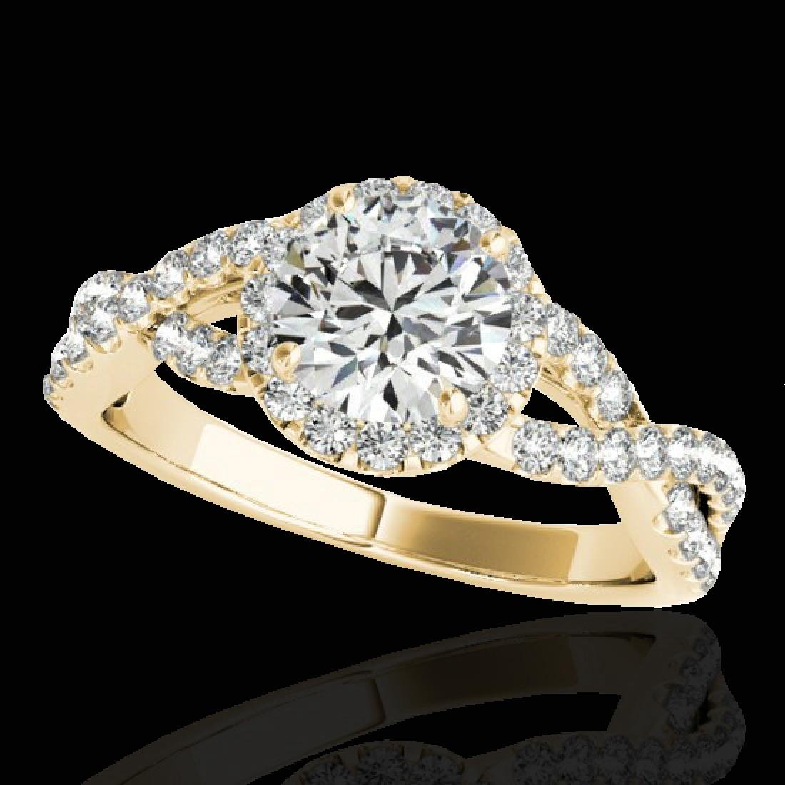 1.54 CTW H-SI/I Certified Diamond Solitaire Halo Ring