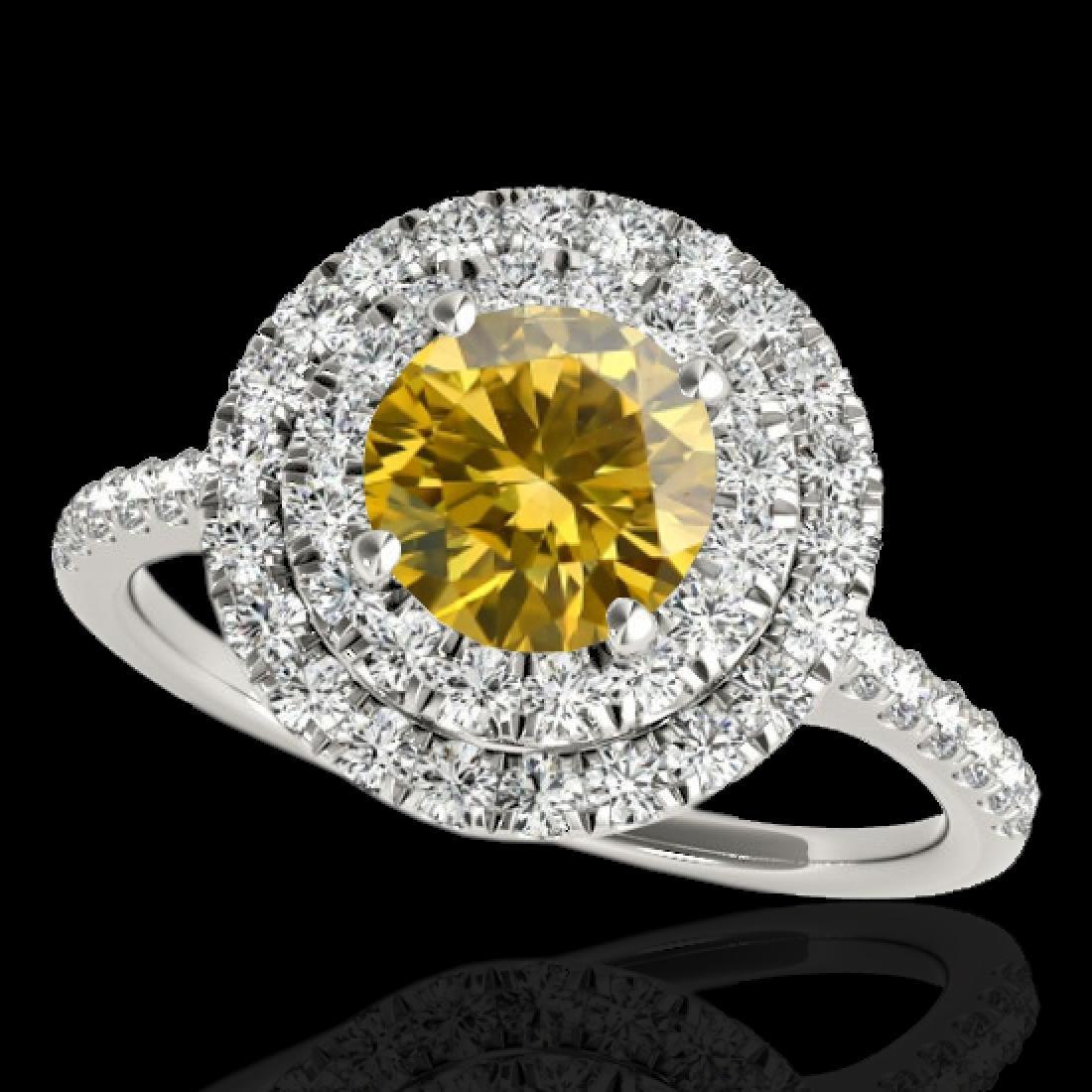 1.5 CTW Certified Si Fancy Intense Diamond Solitaire