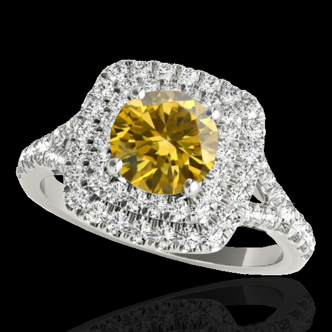 1.6 CTW Certified Si Fancy Intense Diamond Solitaire