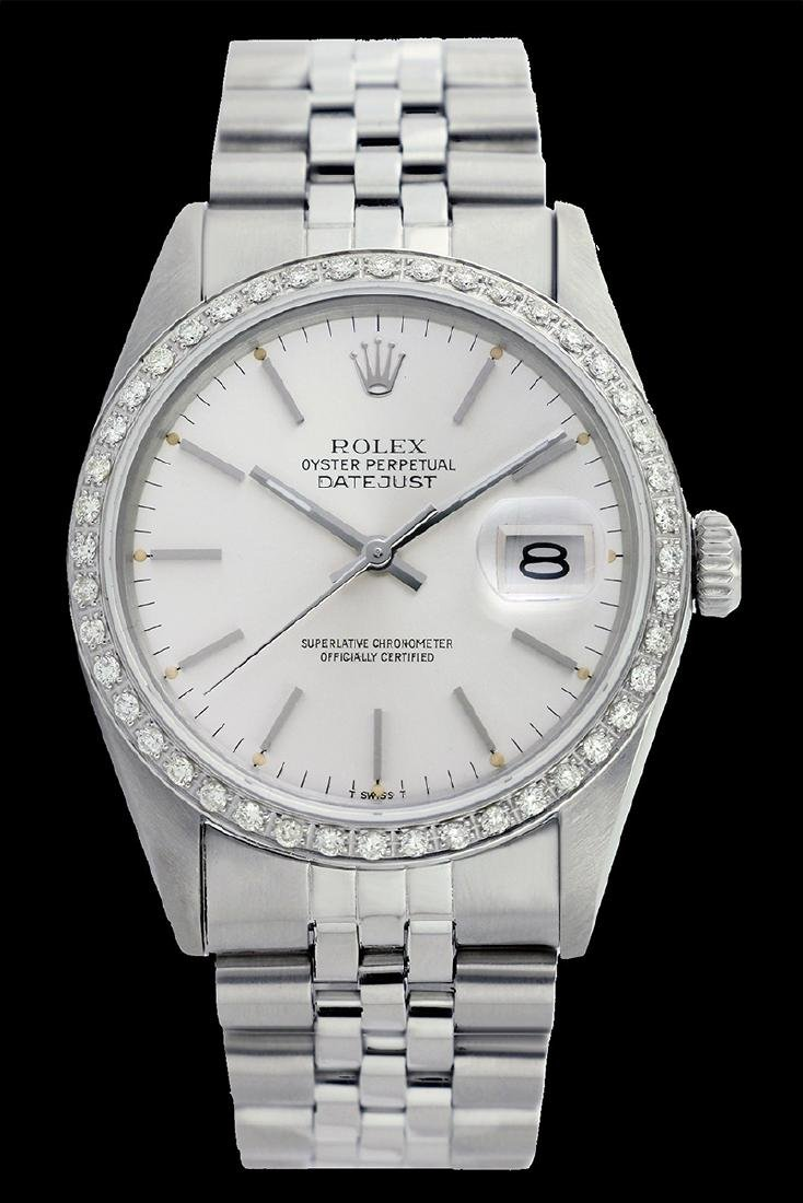 Rolex Ladies Stainless Steel, Index Bar Dial with