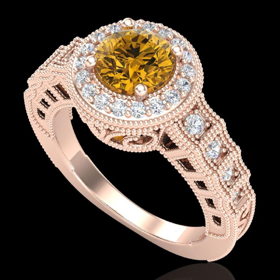 1.53 CTW Intense Fancy Yellow Diamond Engagement Art