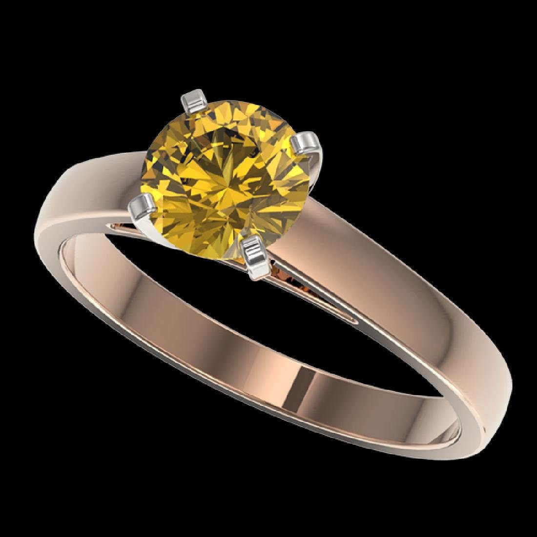 1.23 CTW Certified Intense Yellow SI Diamond Solitaire