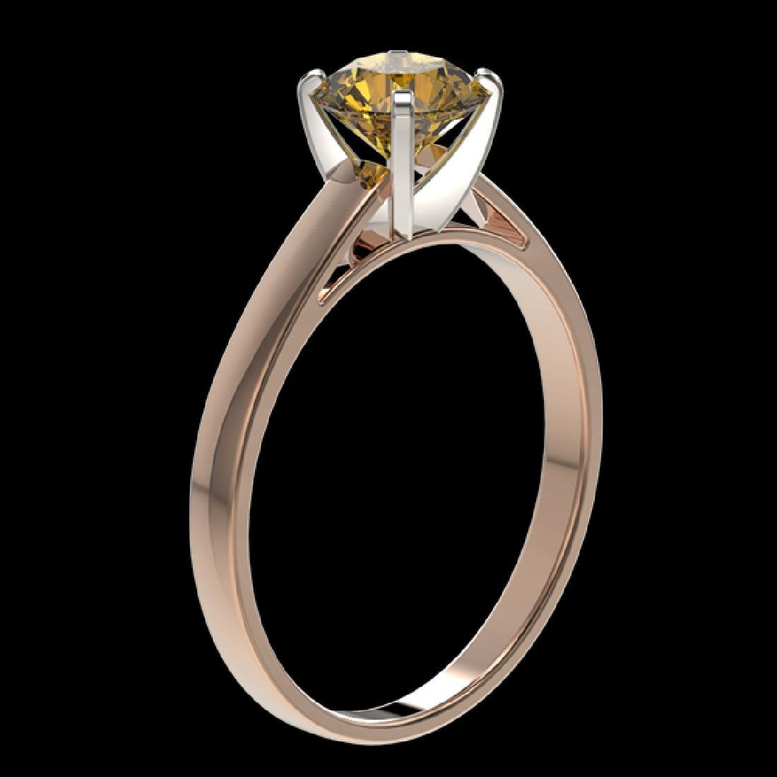 1 CTW Certified Intense Yellow SI Diamond Solitaire - 3