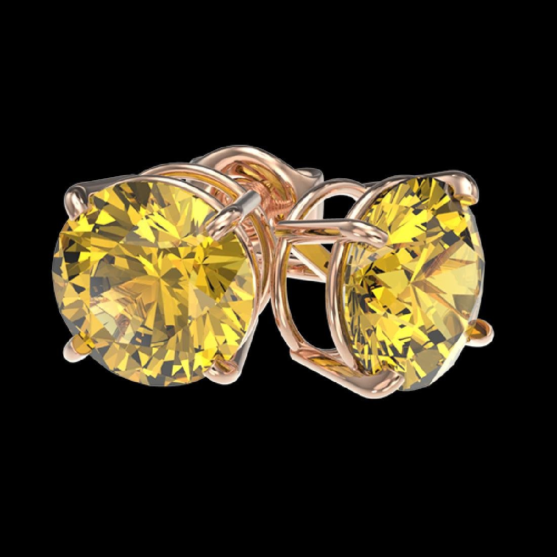 1.97 CTW Certified Intense Yellow SI Diamond Solitaire - 3