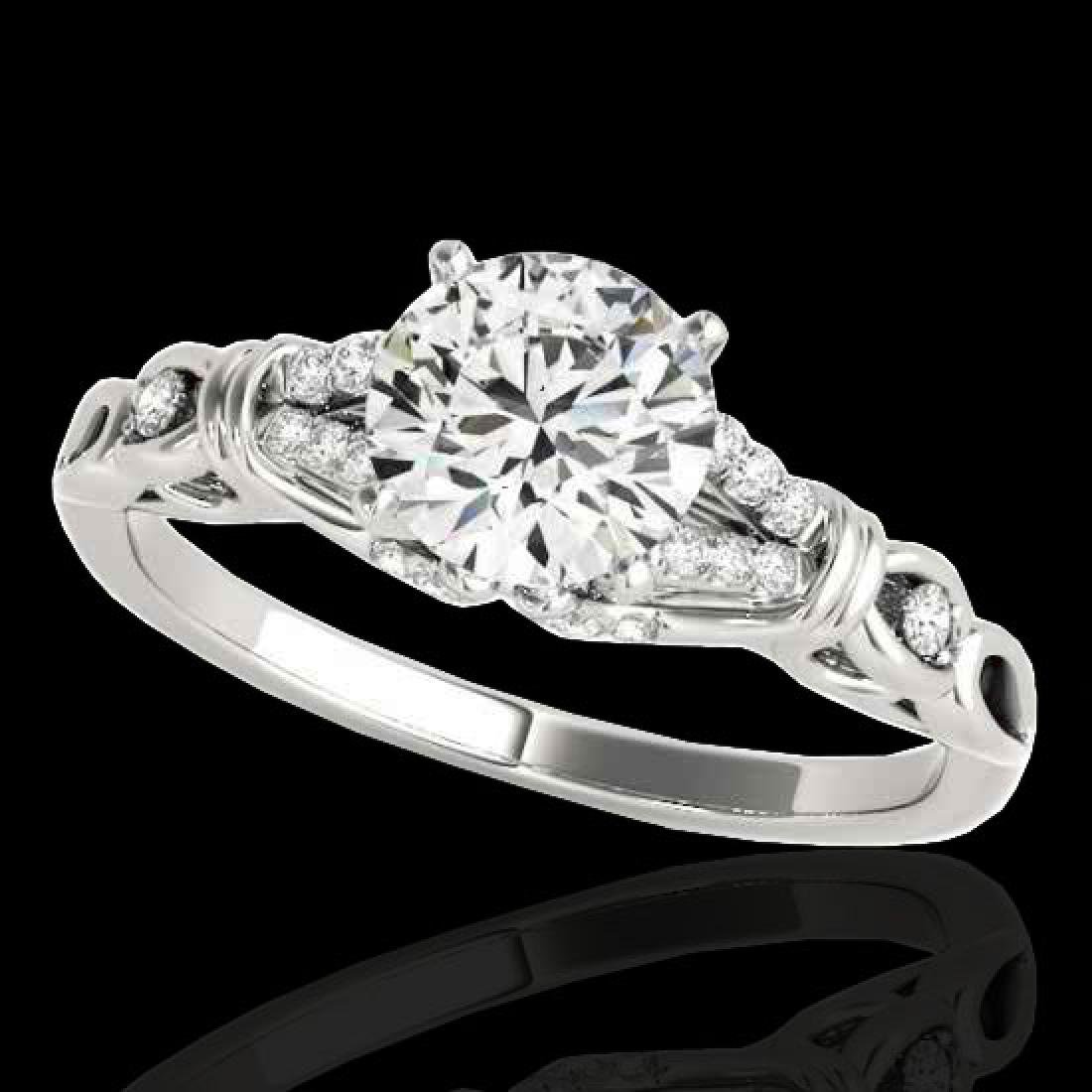 1.2 CTW H-SI/I Certified Diamond Solitaire Ring 10K