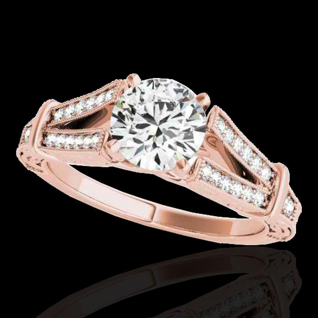 1.25 CTW H-SI/I Certified Diamond Solitaire Antique