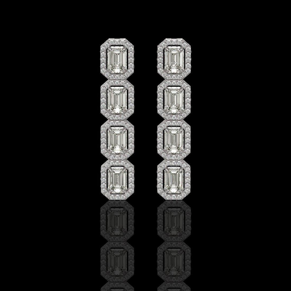 5.33 CTW Emerald Cut Diamond Designer Earrings 18K