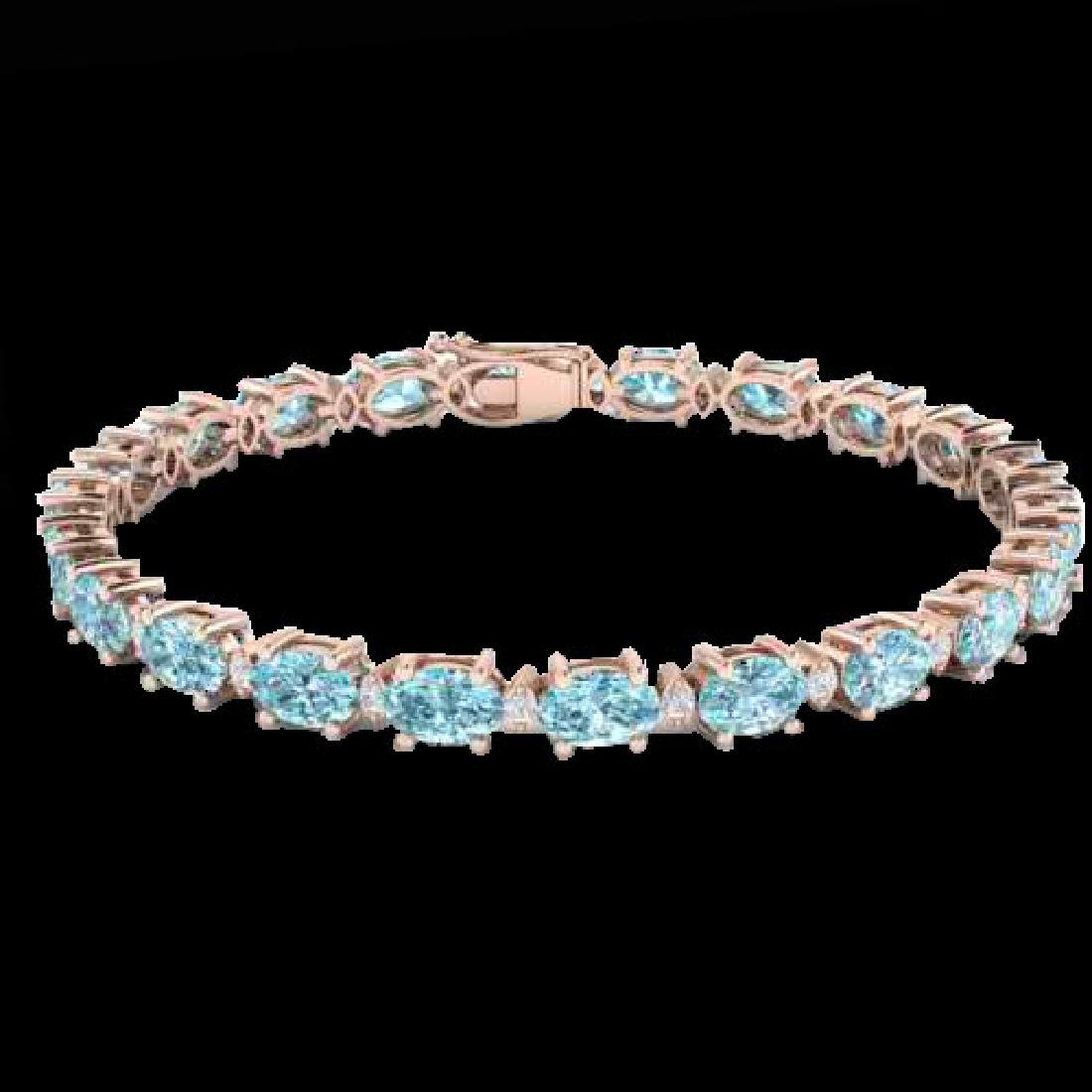 19.7 CTW Sky Blue Topaz & VS/SI Certified Diamond