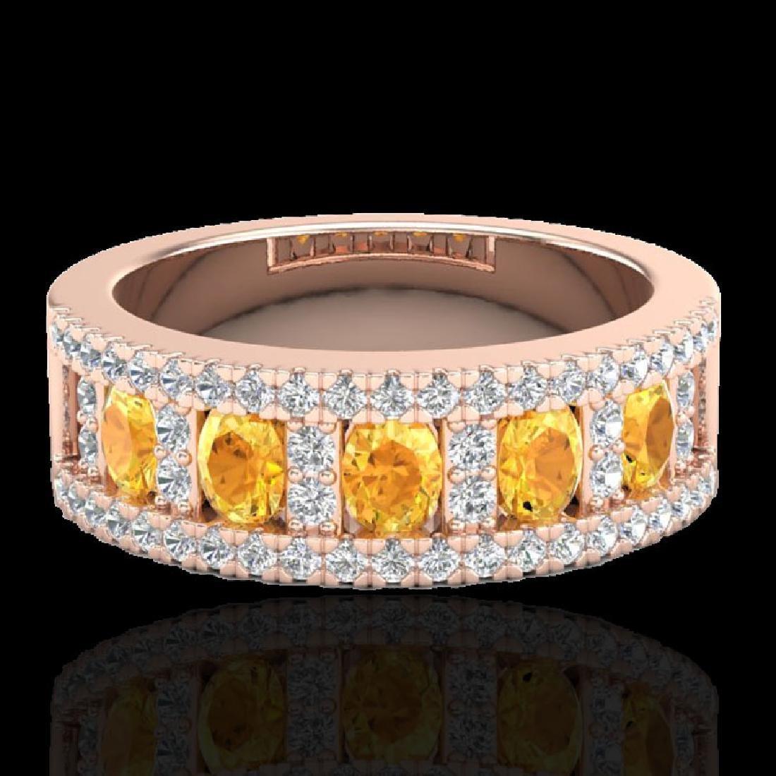2 CTW Citrine & Micro VS/SI Diamond Inspired Ring 10K