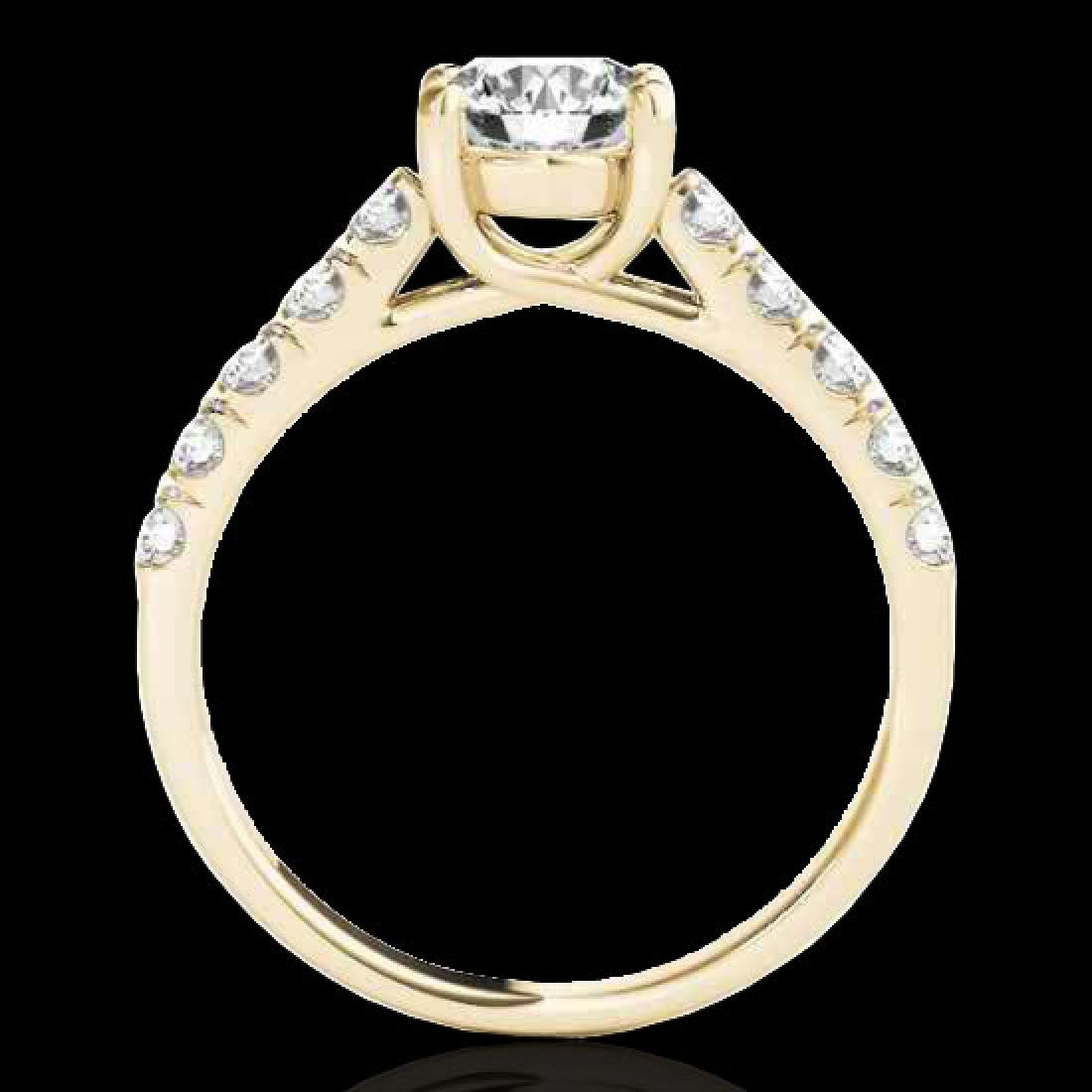 2.1 CTW H-SI/I Certified Diamond Solitaire Ring 10K - 2