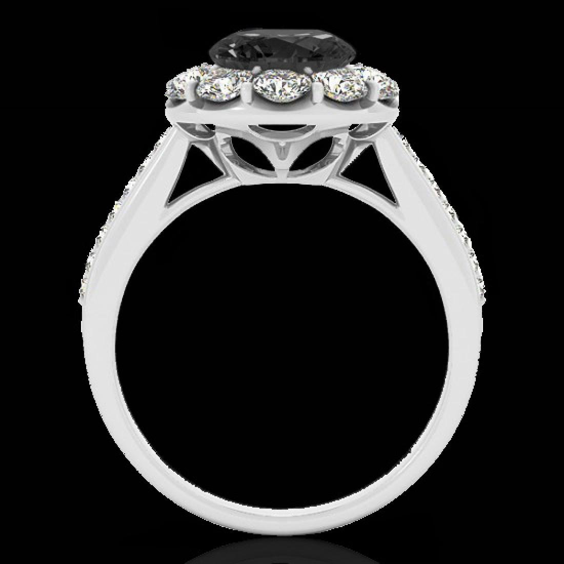 2.75 CTW Certified VS Black Diamond Solitaire Halo Ring - 2