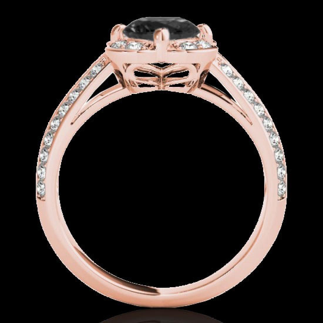 2.05 CTW Certified VS Black Diamond Solitaire Halo Ring - 2
