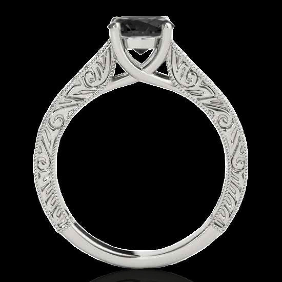 1.32 CTW Certified VS Black Diamond Solitaire Ring 10K