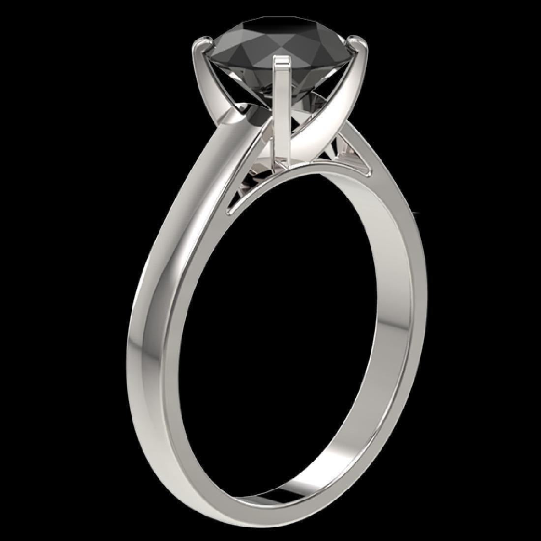 2 CTW Fancy Black VS Diamond Solitaire Engagement Ring - 3