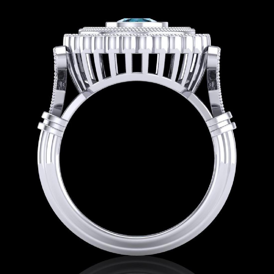 2.03 CTW Fancy Intense Blue Diamond Solitaire Art Deco - 3