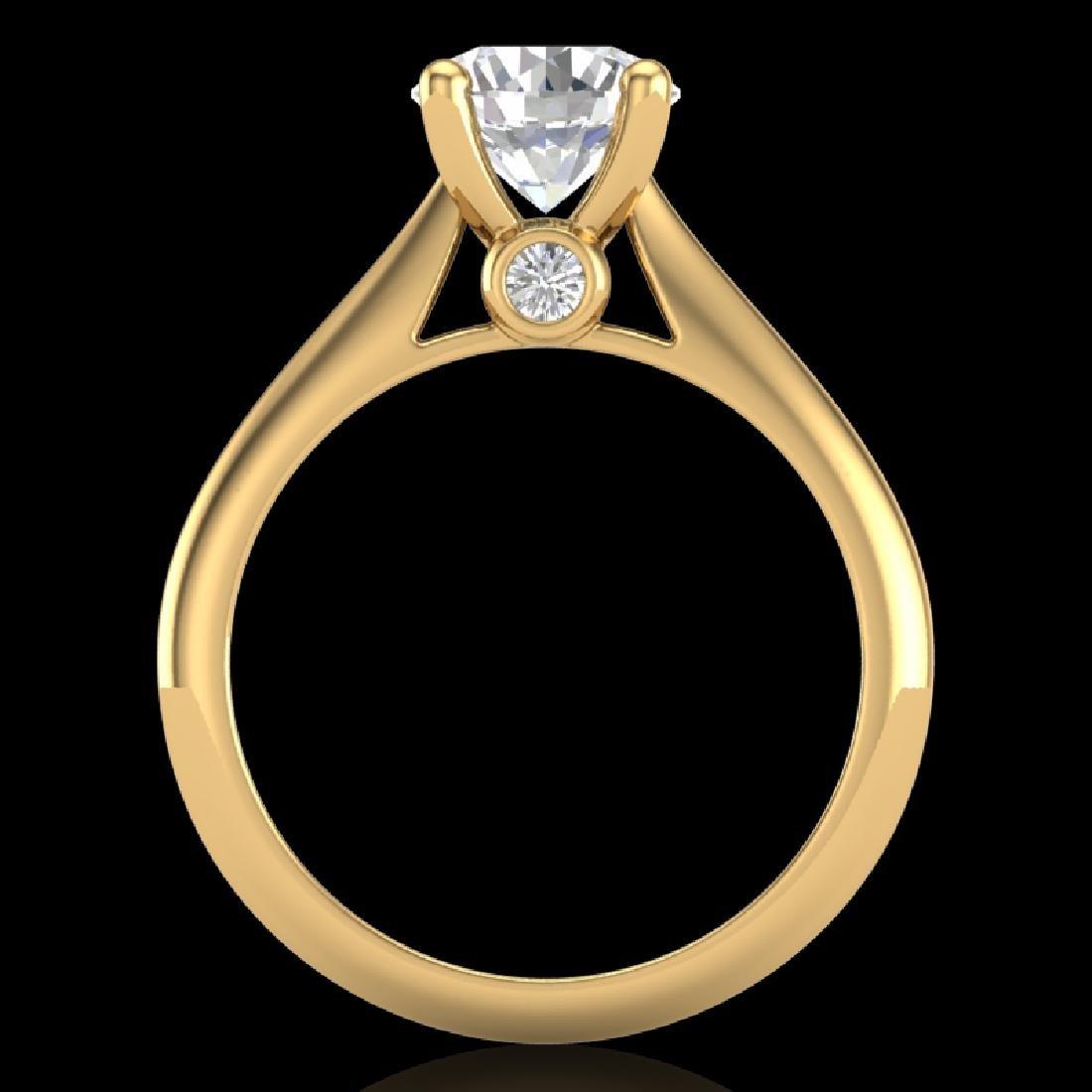 1.6 CTW VS/SI Diamond Art Deco Ring 18K Yellow Gold - 2