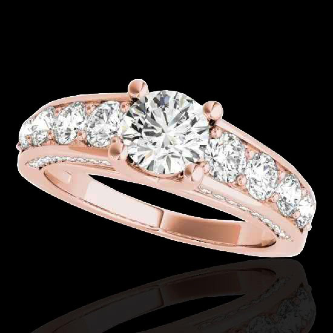3.05 CTW H-SI/I Certified Diamond Solitaire Ring 10K