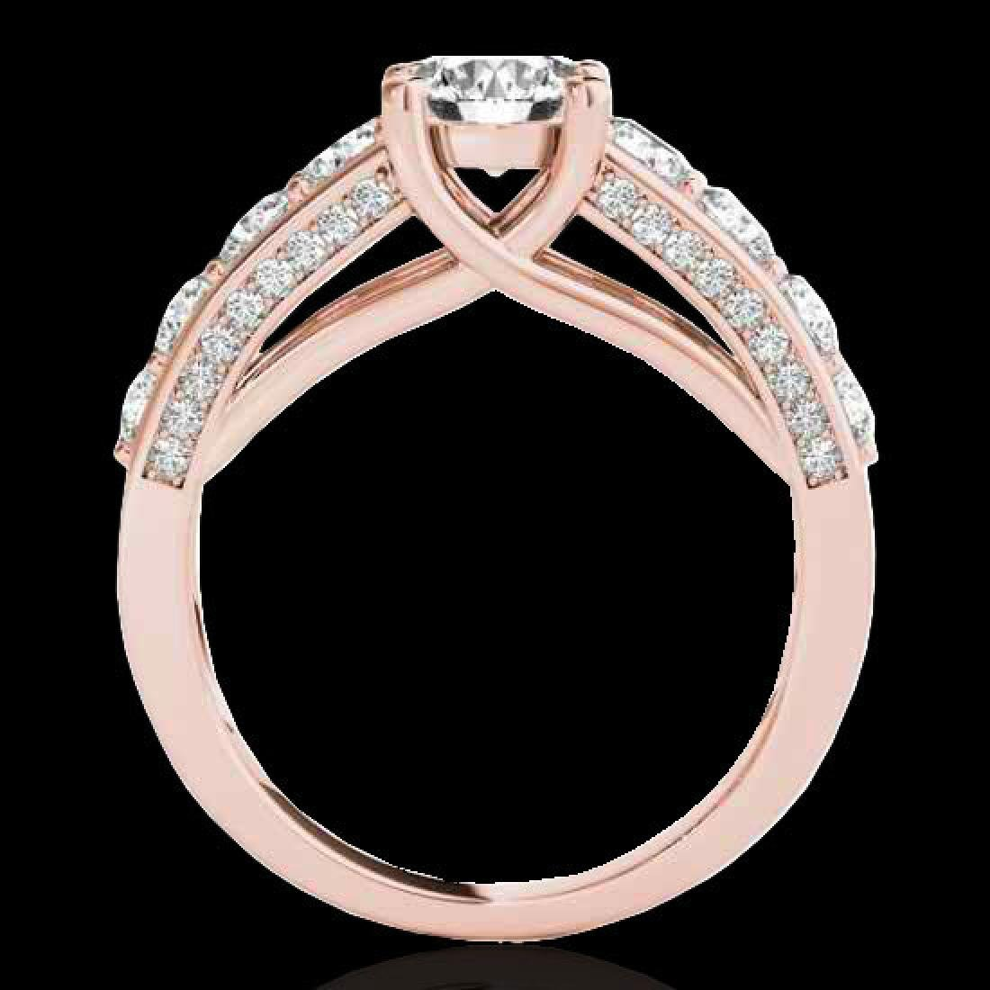 3.05 CTW H-SI/I Certified Diamond Solitaire Ring 10K - 2