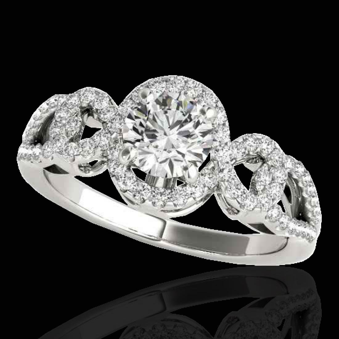 1.38 CTW H-SI/I Certified Diamond Solitaire Halo Ring