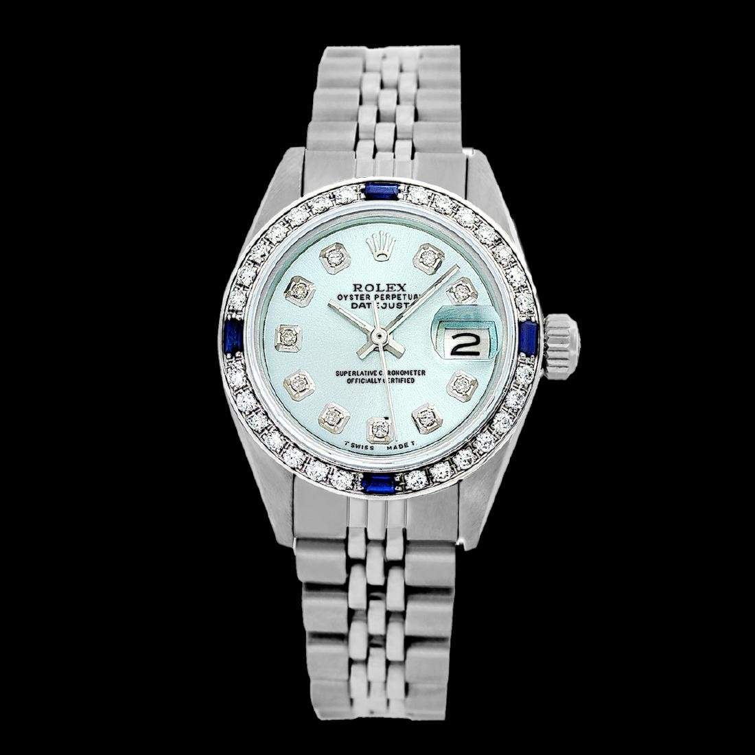 Rolex Ladies Stainless Steel, Diam Dial & Diam/Sapphire - 2