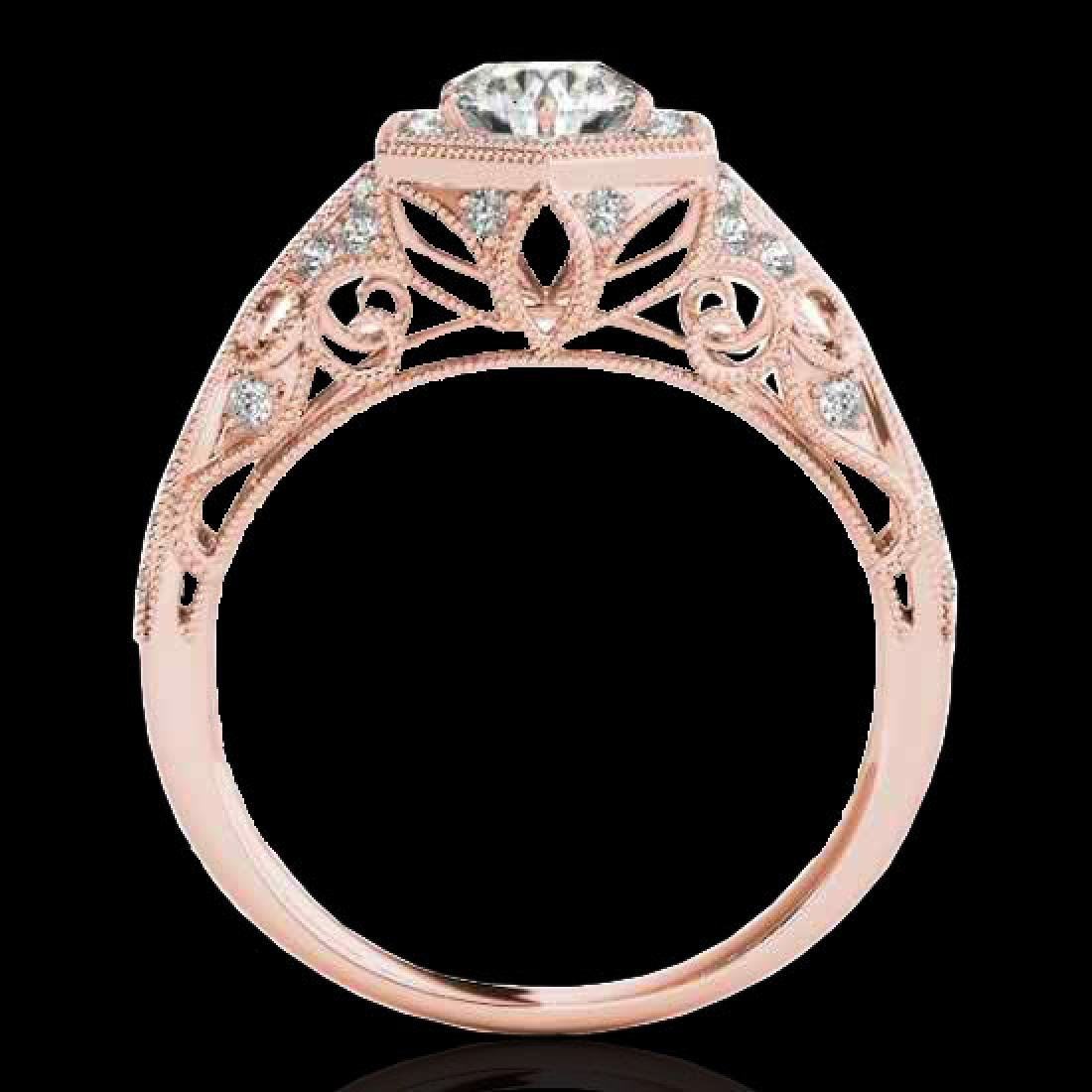 1.4 CTW H-SI/I Certified Diamond Solitaire Antique Ring - 2
