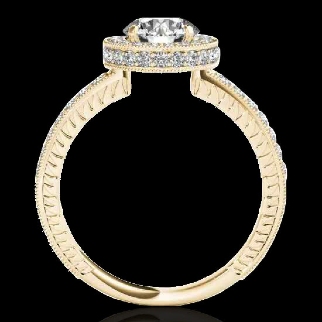 1.51 CTW H-SI/I Certified Diamond Solitaire Halo Ring - 2