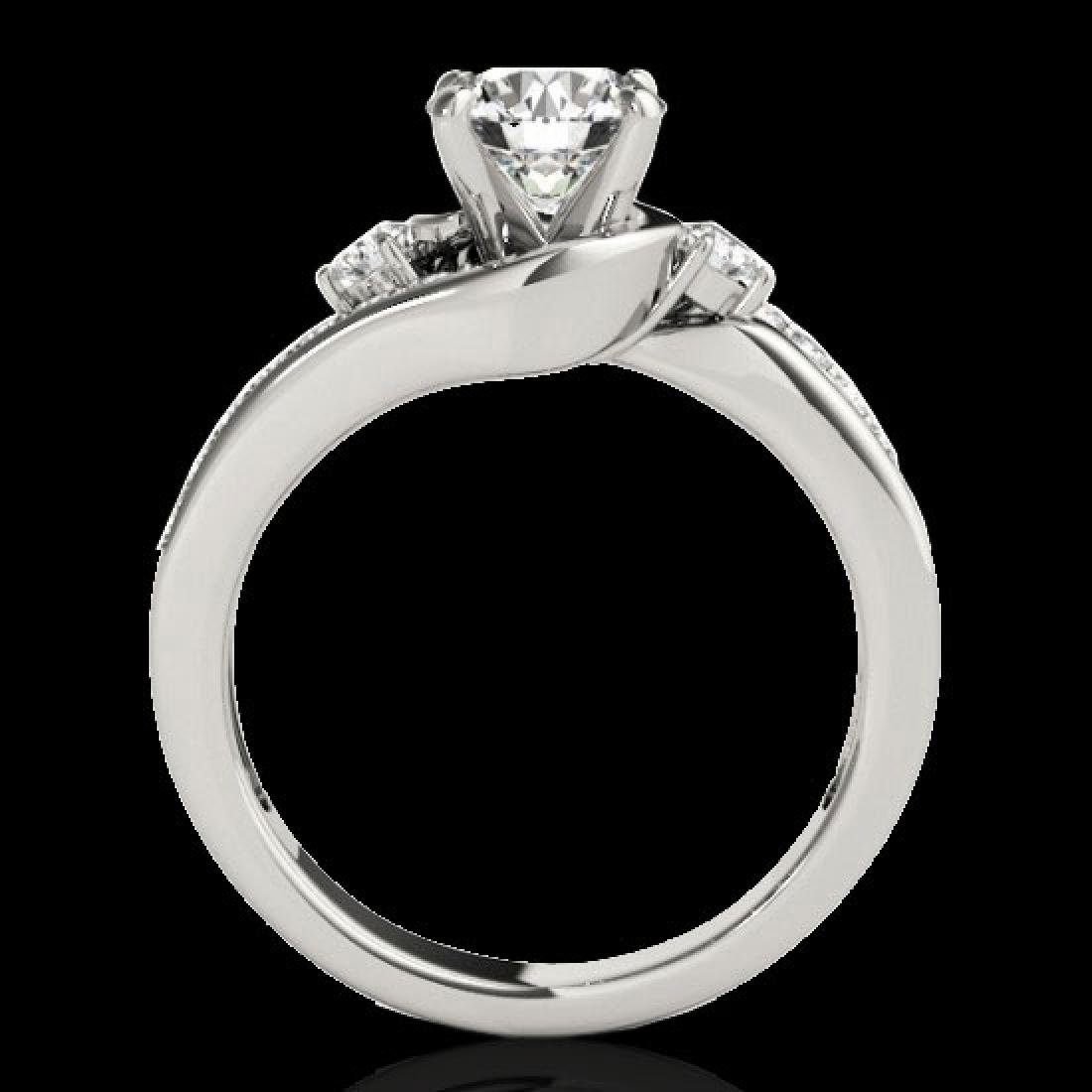 1.75 CTW H-SI/I Certified Diamond Bypass Solitaire Ring - 2