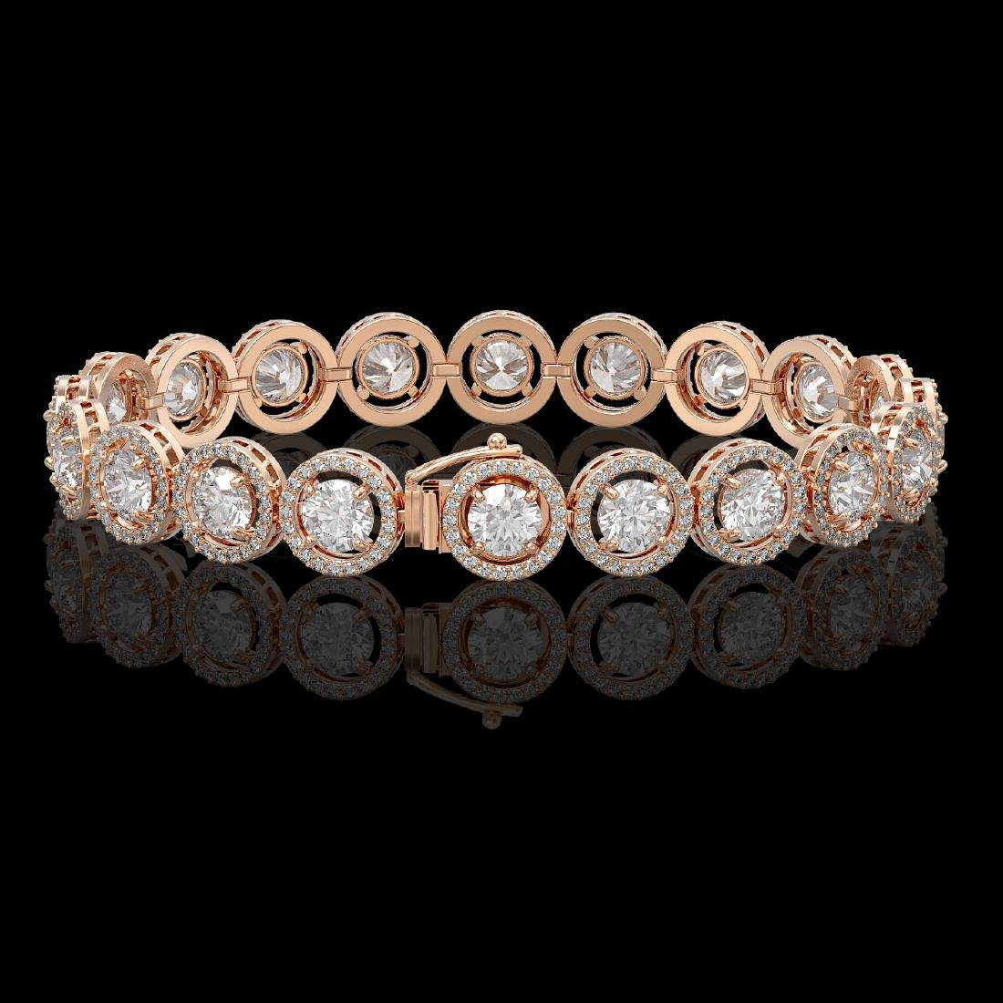 13.42 CTW Diamond Designer Bracelet 18K Rose Gold - 2