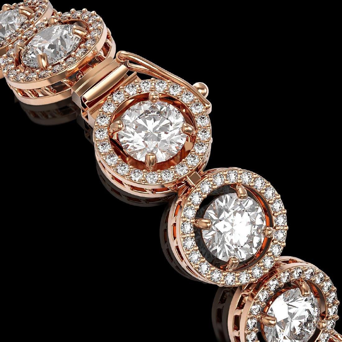 13.42 CTW Diamond Designer Bracelet 18K Rose Gold - 3