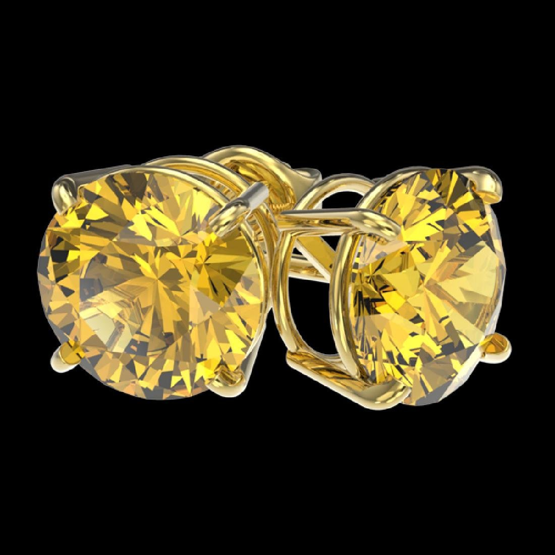 3 CTW Certified Intense Yellow SI Diamond Solitaire - 3