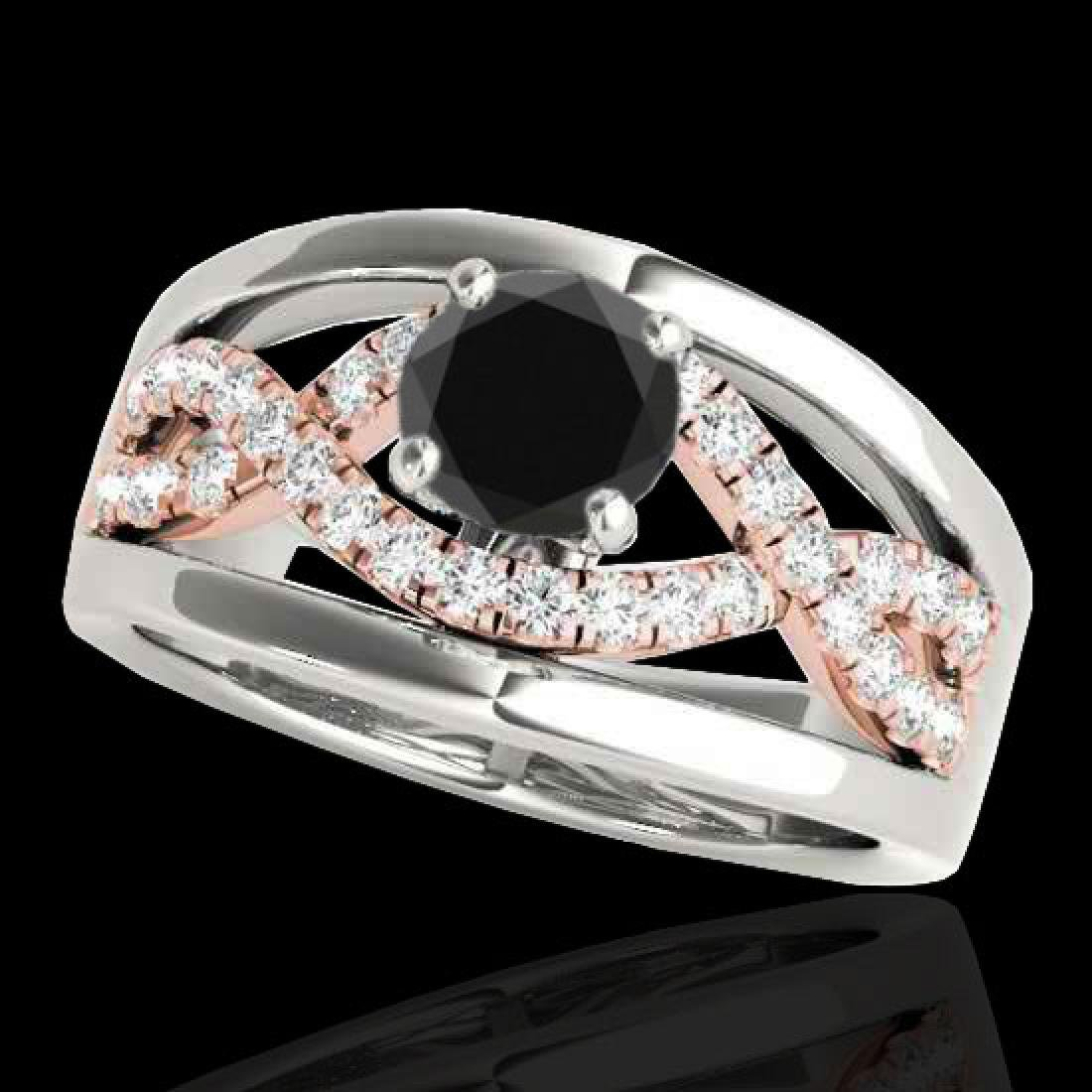 1.55 CTW Certified VS Black Diamond Solitaire Ring 10K