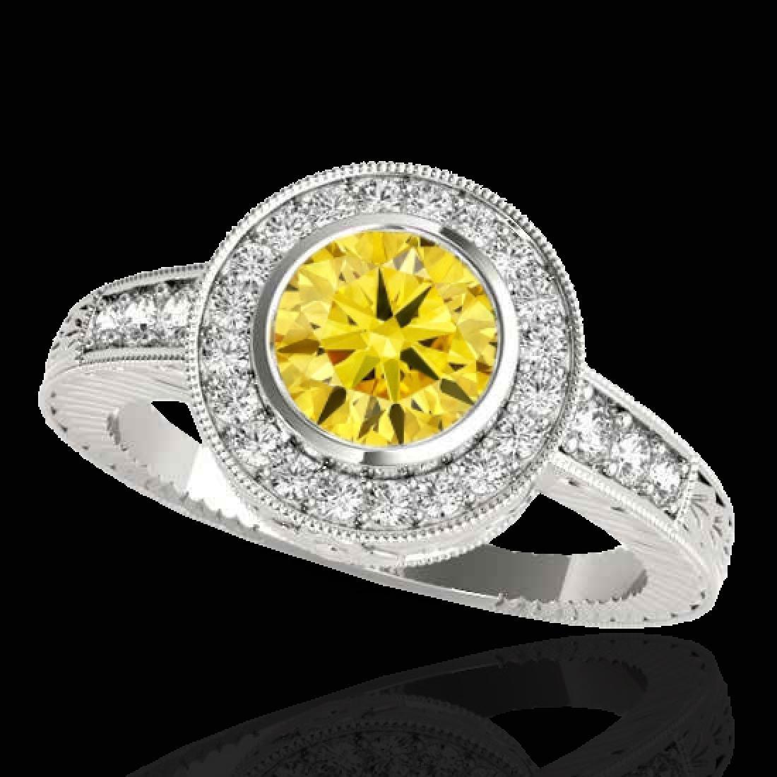 1.50 CTW Certified SI/I Fancy Intense Yellow Diamond