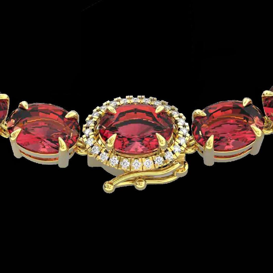 35.25 CTW Pink Tourmaline & VS/SI Diamond Micro Halo