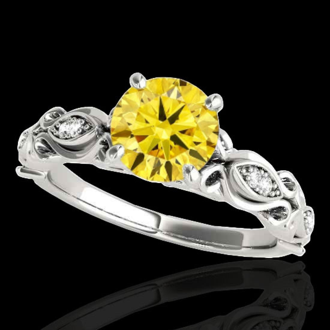 1.1 CTW Certified Si Intense Yellow Diamond Solitaire