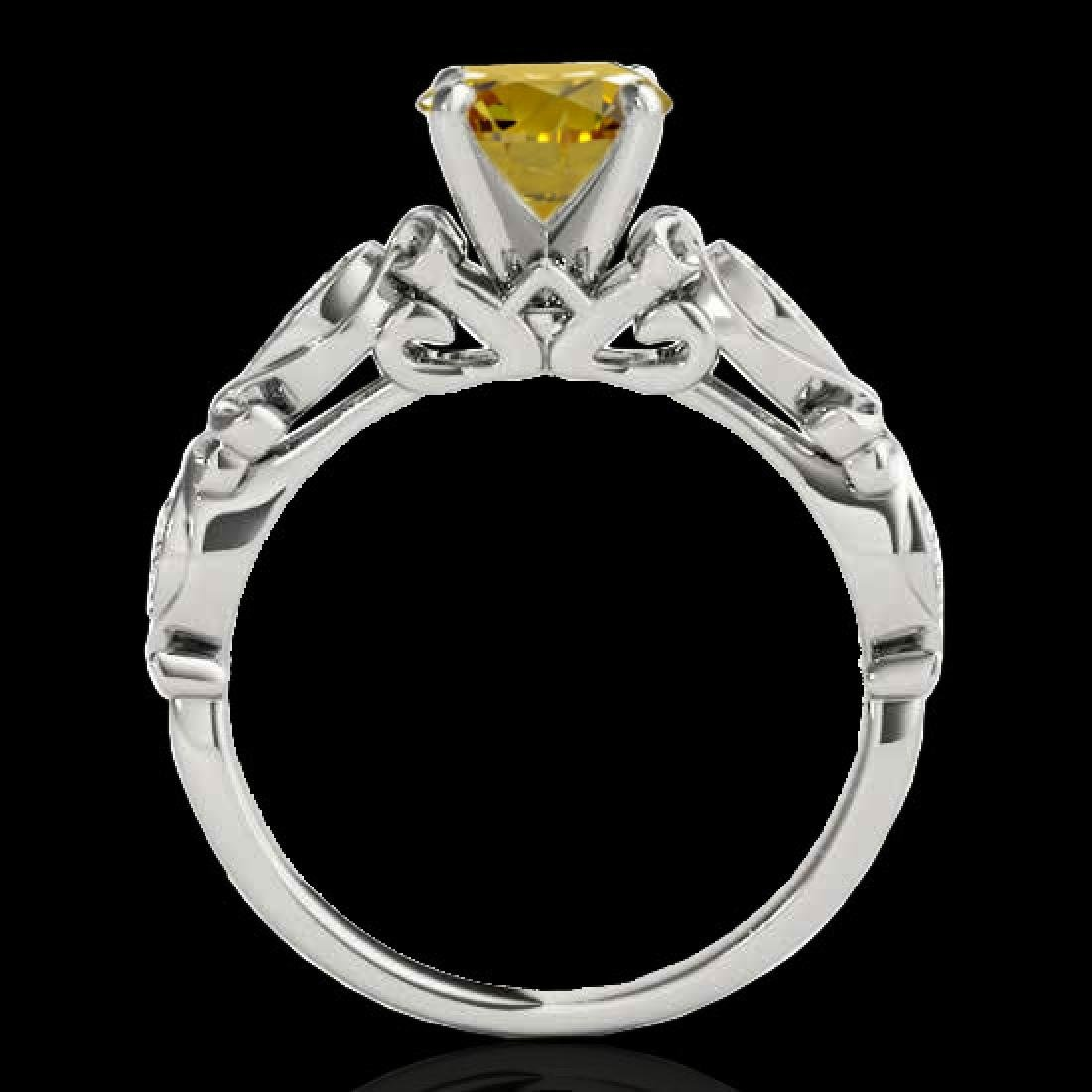 1.1 CTW Certified Si Intense Yellow Diamond Solitaire - 2